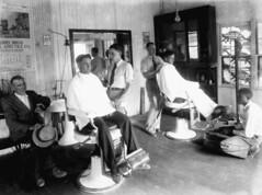 Men in barber shop - Monticello