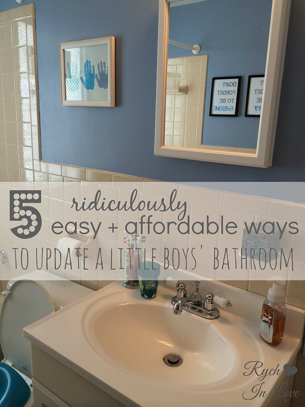 5 easy ways to update a bathroom