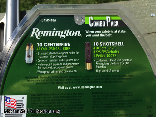 Remington Defensive Combo Pack for Taurus Judge, Remington Ammo