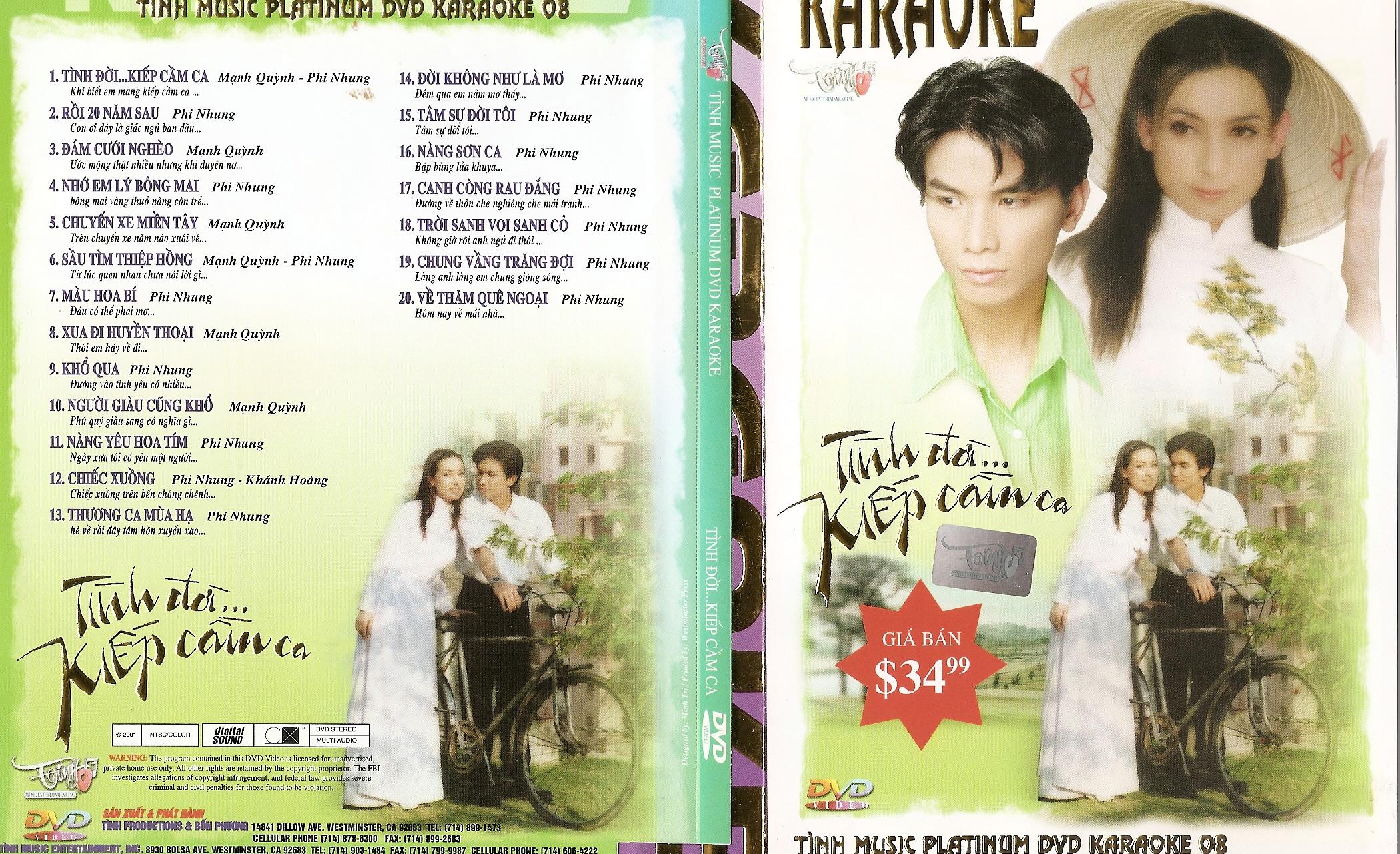 Tình Platinum Karaoke 08 – Tình Đời… Kiếp Cầm Ca [DVD5.ISO]