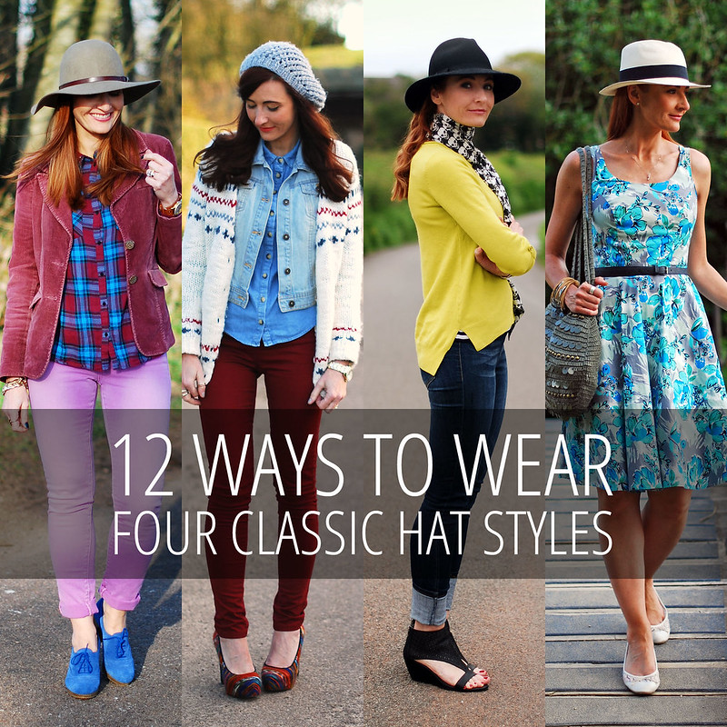 12 Ways to Wear 4 Classic Hat Styles: Floppy Hat, Beanie, Fedora and Panama