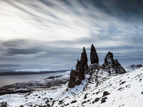 winter cold clouds scotland long exposure isleofskye unitedkingdom olympus le streaks portree e5 oldmanofstorr
