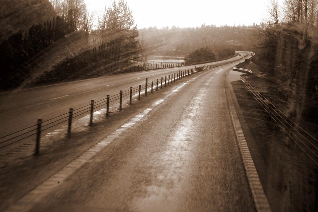 sepia road