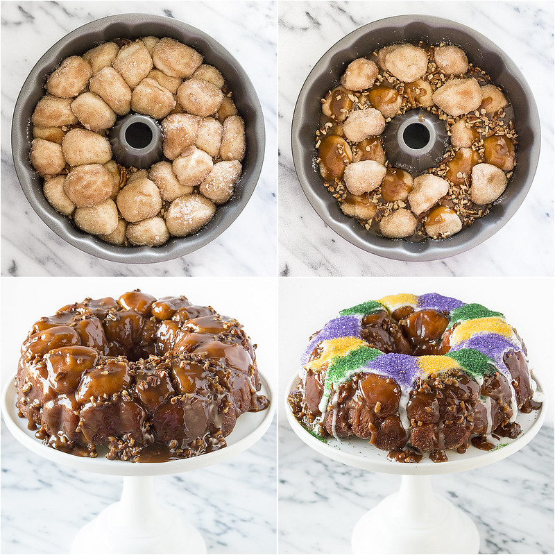 Pecan Praline King Cake Monkey Bread