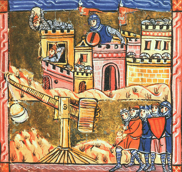 Siege of Acre depicted on medieval manuscript