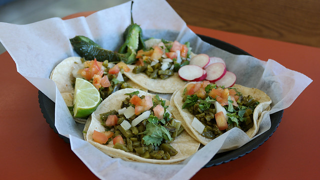 Nopal Tacos from Cactus  from Paleteria La Michoacana in Des Moines, Iowa