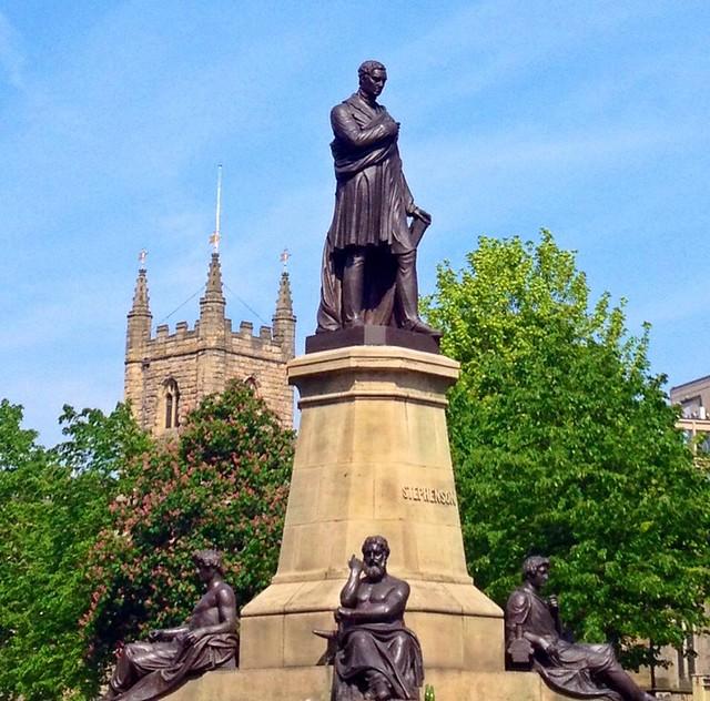 George Stephenson Monument, Westgate Rd/Neville St