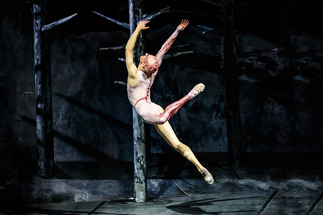 Steven McRae as The Creature in Frankenstein © ROH 2016. Photograph by Bill Cooper