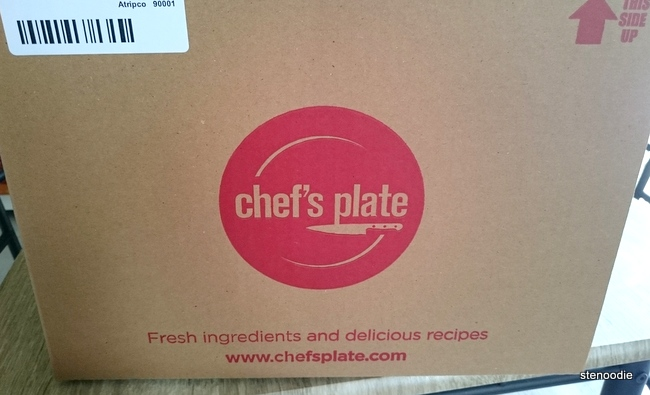 Chef's Plate delivery box