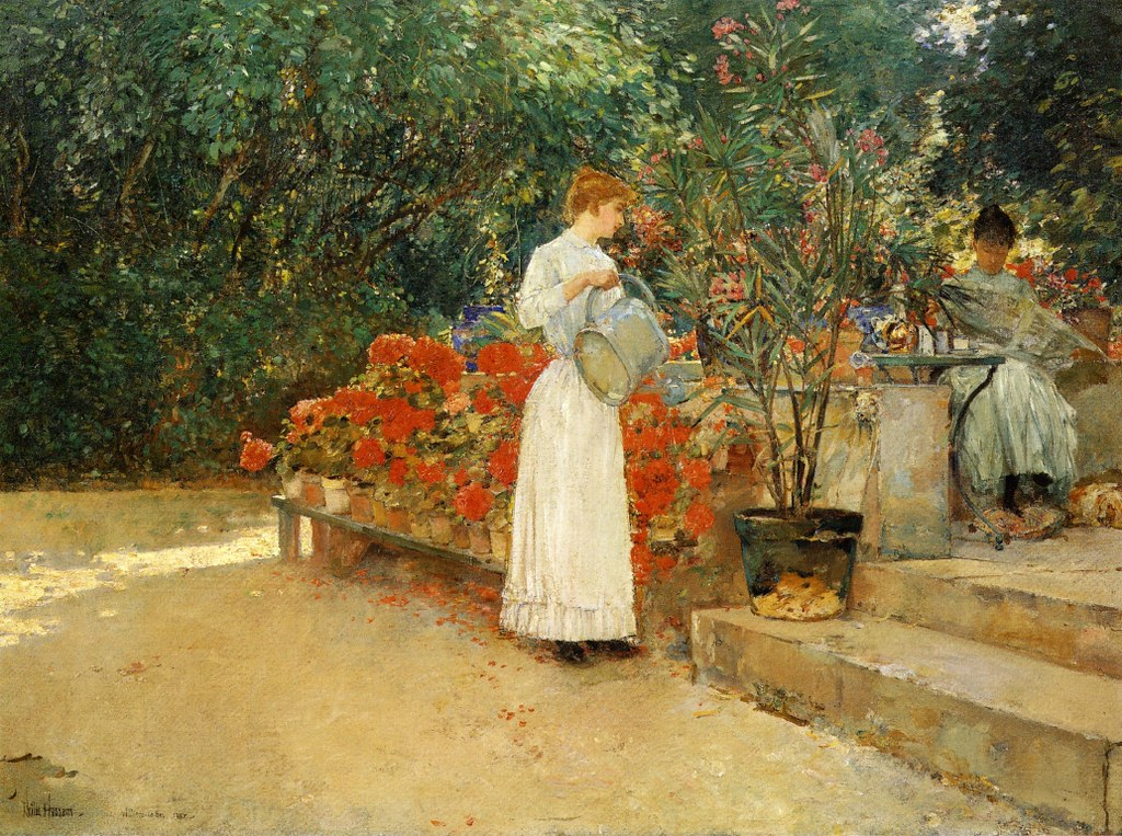 After Breakfast by Frederick Childe Hassam - 1887