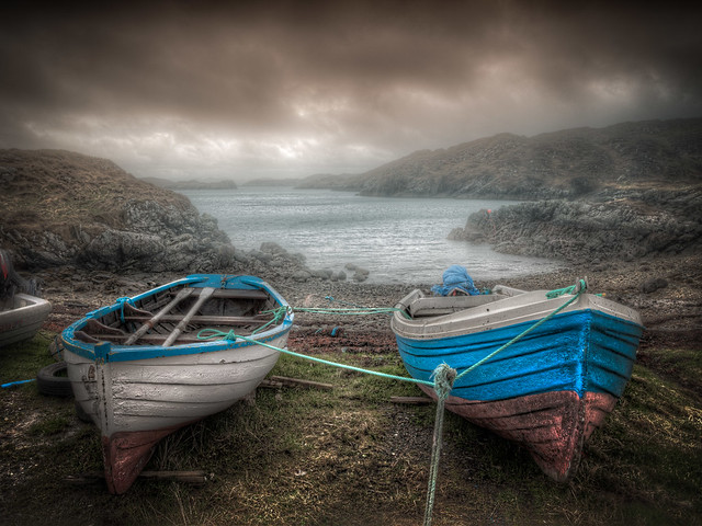 Two Cuidhir Boats
