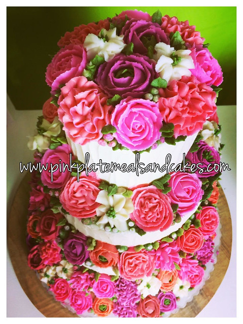 Floral Cake by Khyria Cepe of Pink Plate Meals and Cakes