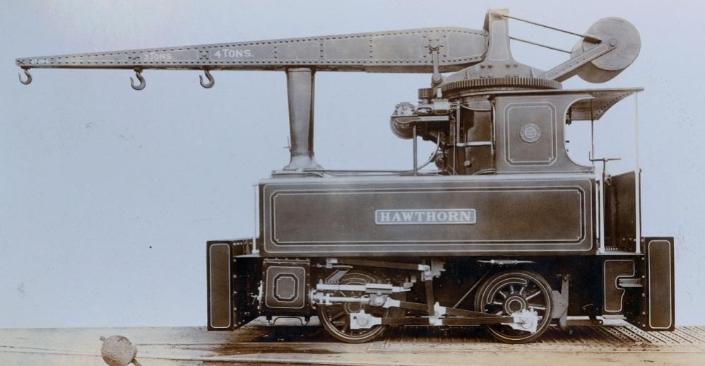 Crane locomotive built in Newcastle upon Tyne