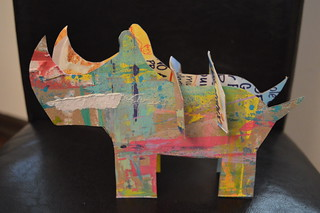 Cardboard Sculpture - Rhino