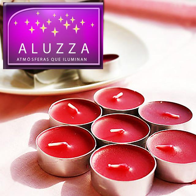 vela tea light aromatica con color ideal para decoración de eventos.