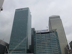 Another view of Canary Wharf's skyscrapers from Poplar DLR