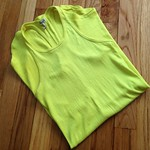 Splendid neon yellow racerback tank from tag sale in Westbury