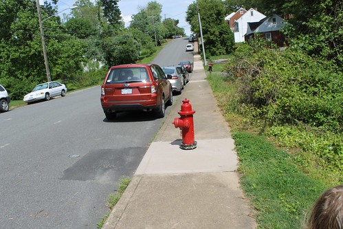 Sidewalk obstruction.