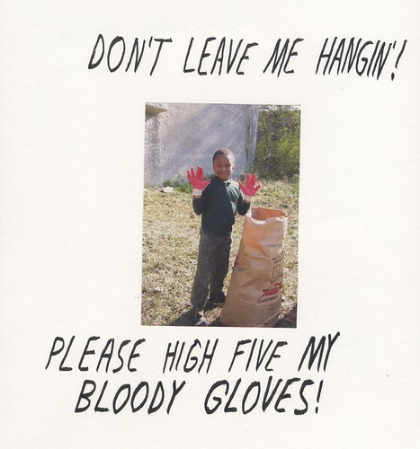 High Five Bloody Gloves by willlaren