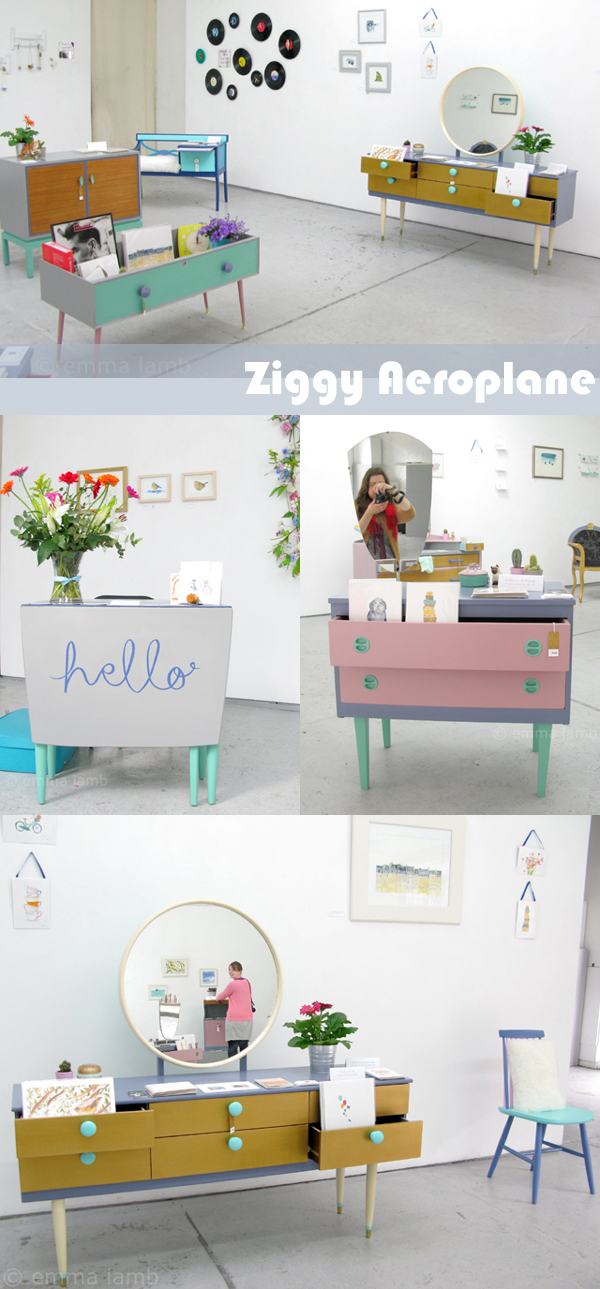 Ziggy Aeroplane is a lovely wee collaboration between Fiona Purves of Paper Aeroplane and Amy Dolan of Ziggy Sawdust to celebrate their first year in business. | Emma Lamb