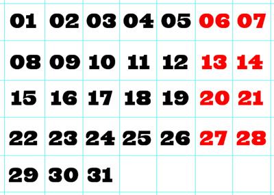 Creating a calendar grid in Photoshop