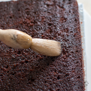 brush with syrup to keep the cake nice and moist