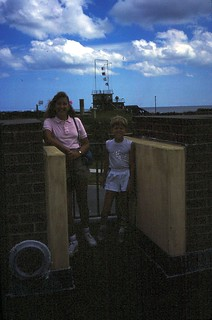 South Carolina    -   Ft. Moultrie    -  Jessica & Jeb   -    Having left my mother with her sister for a short vacation, we traveled on to ship our Van to Germany and apend time at the Beach House    -   July 1985