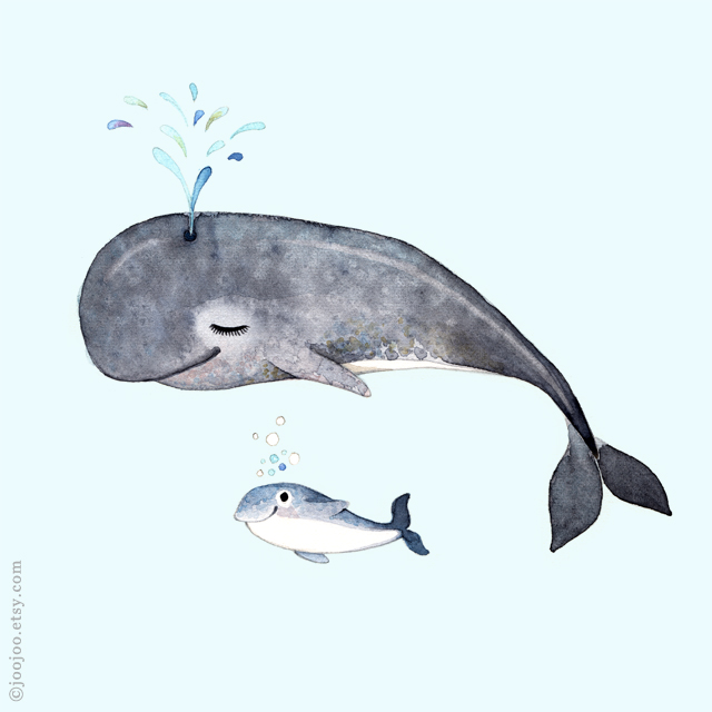 Nursery art . W is for Whale