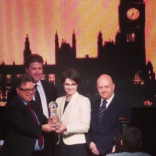 Here's @thephilpster handing over the award to @chloesmithmp et al #gcs2013