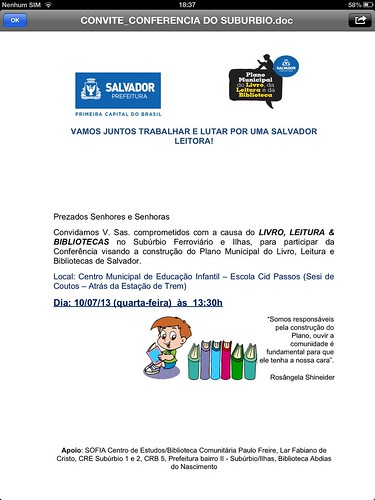 Mini Conferência PMLLB by Biblioteca Abdias Nascimento