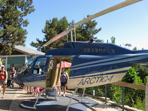 A retired helicopter on display at the San Diego Zoo.  San Diego California.  June 2013. by Eddie from Chicago
