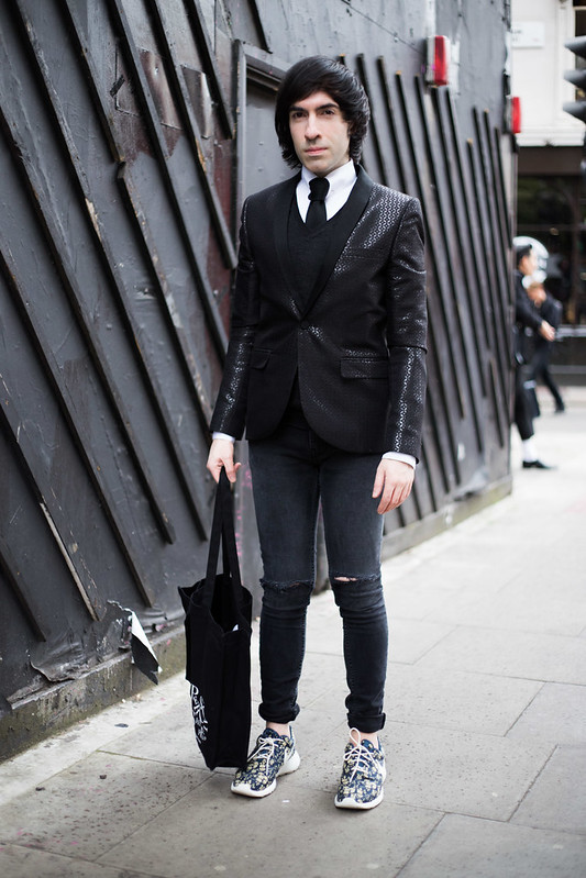 Street Style - Jai'me Jan, London Collections: Men