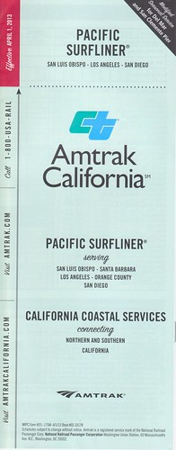 Amtrak Pacific Surfliner 2013 Cover