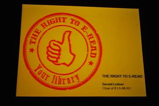 The Right to E-read