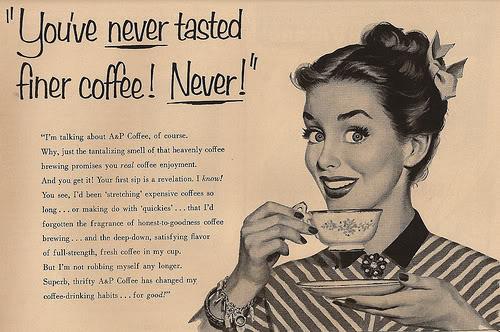 Pubblicita' vintage del caffe VintageCoffeeAd-1