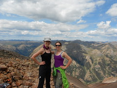 Erin and Clare Walking on Sunshine (14,001 ft)