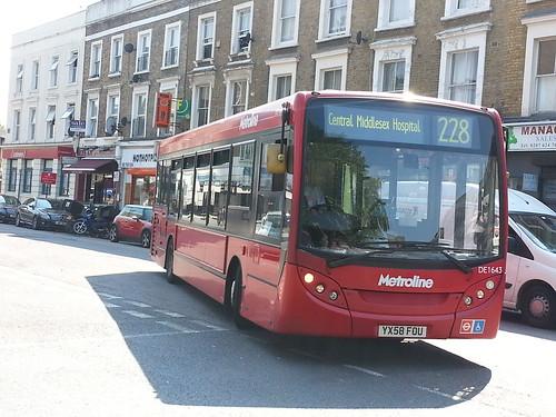 Metroline West Alexander Dennis Enviro200 (DE1643 - YX58 FOU) 228