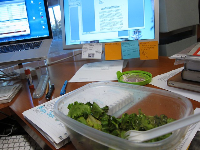 Lunch at the desk
