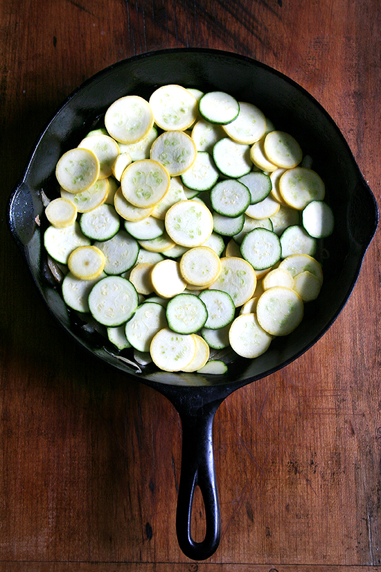 topped with summer squash