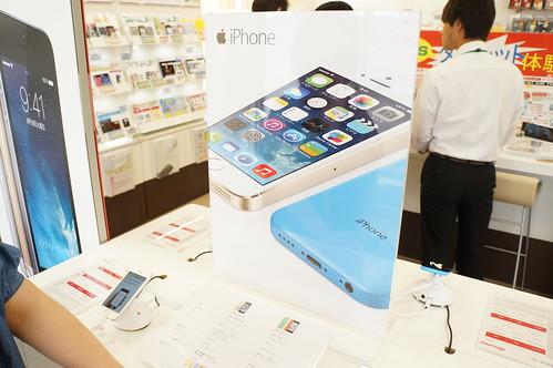 Apple iPhone 5c ブルー背面