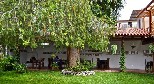 Restaurante Hana, Courtyard, Lake Atitlan, Guatemala