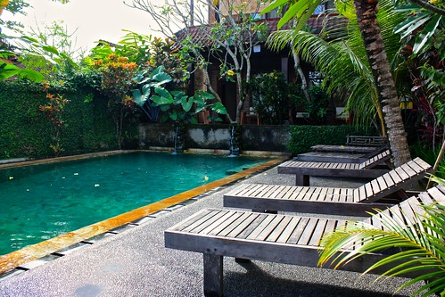 The pool at our ($35/night) guest house in Ubud
