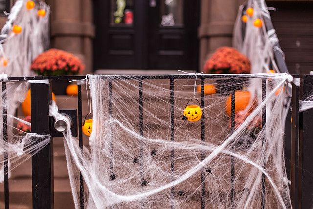 Spooky decorations in Brooklyn, NYC