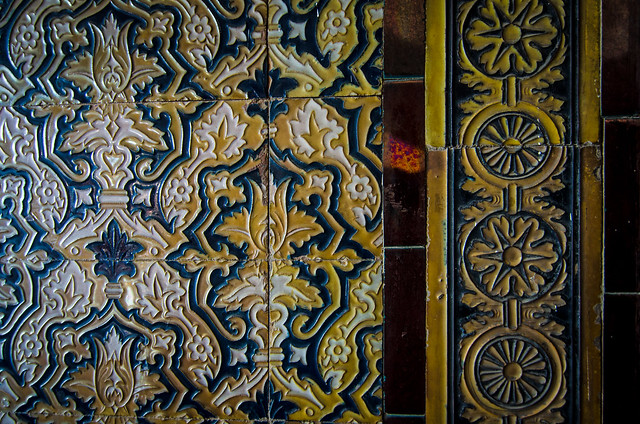 Gorgeous ceramic tiles, or azulejos, at the Plaza de España in Sevilla.