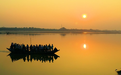 sunset people india silhouette landscape asia indian culture ganga westbengal incrediblebengal d3100 nikond3100 grambanglarchobi