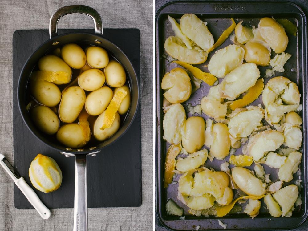 Smashed Lemon Potatoes