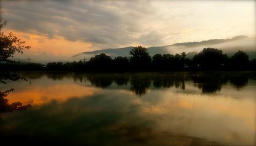 Sonnenaufgang am Rhein - 2008-09-06