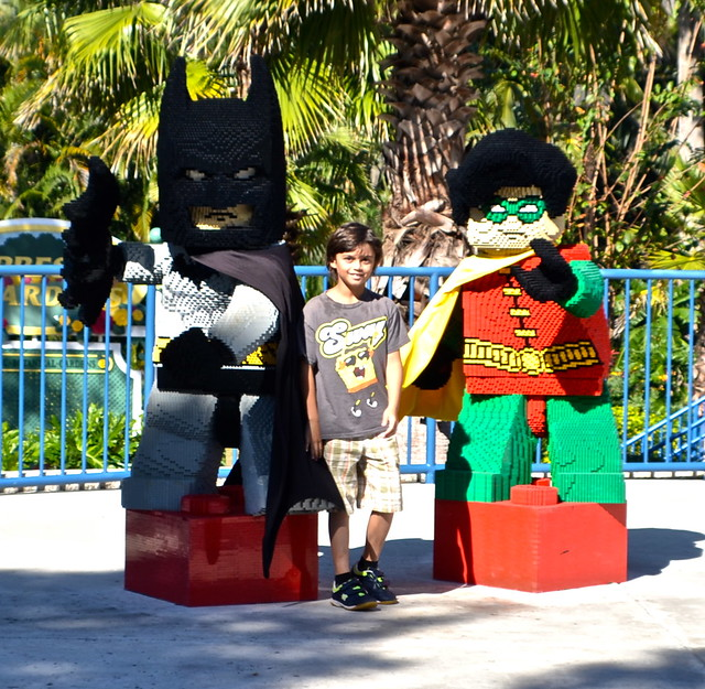 Legoland, Florida - batman and robin art