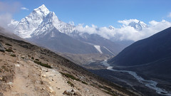 Ama Dablam z szlaku do Dingboche