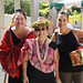 Keiki Kawai'ae'a (center), the director of the UH Hilo Ka Haka 'Ula O Ke'elikōlani College of Hawaiian Language with UH Mānoa Hawaiian Studies Professor Lilikala Kame'eleihiwa (left) and her daughter Punihei Lipe (right) at grand opening of the college's new home, Haleʻōlelo.
